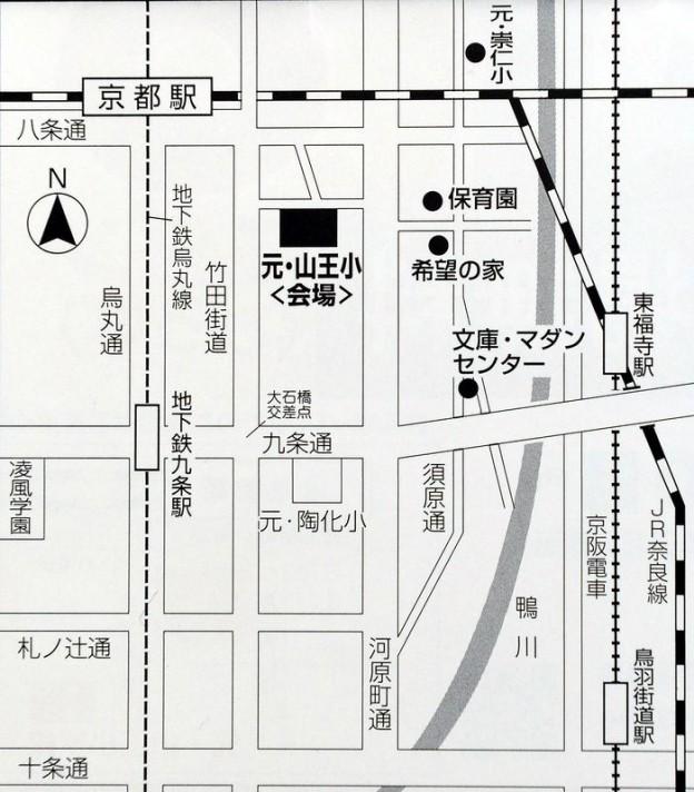 東九条マダン案内図