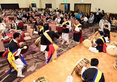 DPI全国集会でサムルのたまごが演奏